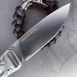 Image 4 - SANRENMU 7096 pocket folding knife handle camping survival edc Rescue Survival Tool knife 12c27 stainless steel blade full steel