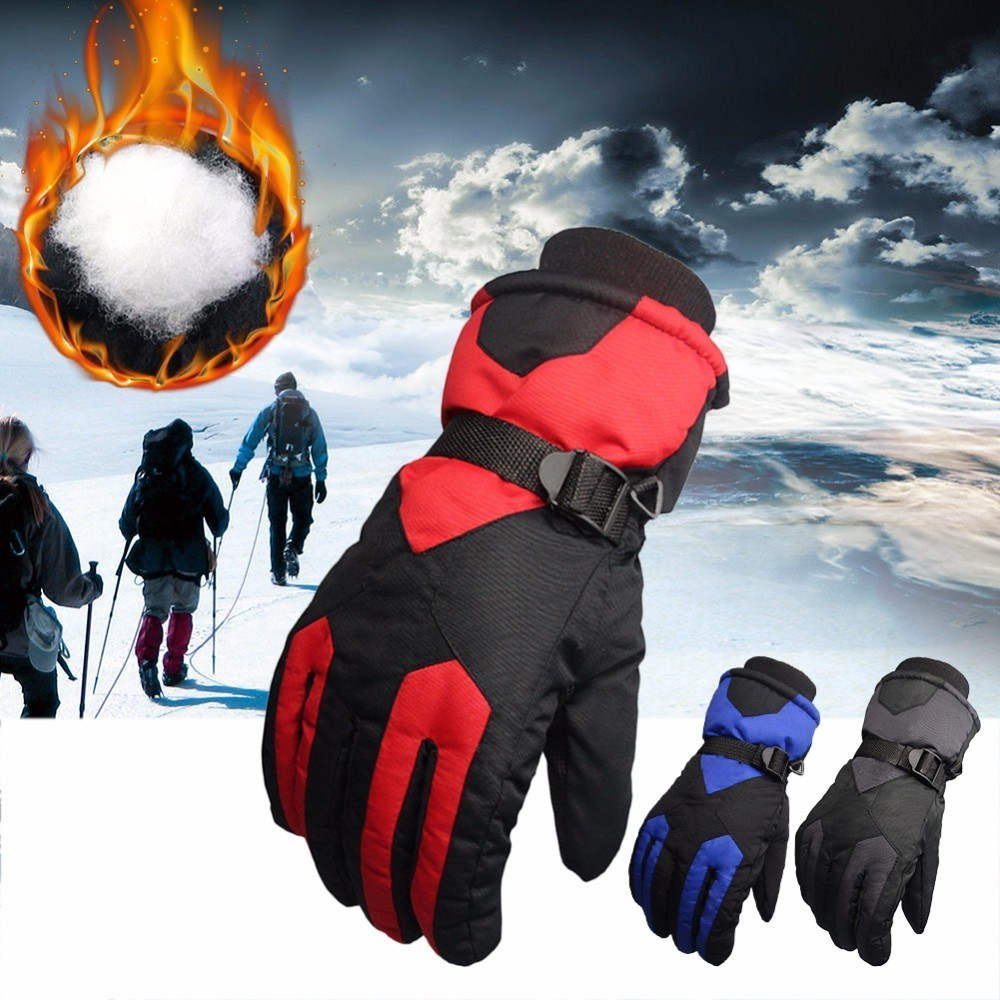 Outdoor Sports Winter Non-Slip Windproof Motorcycle Riding Gloves Snowboard Skiing Warm Gloves For Unisex Luvas Da Motocicleta