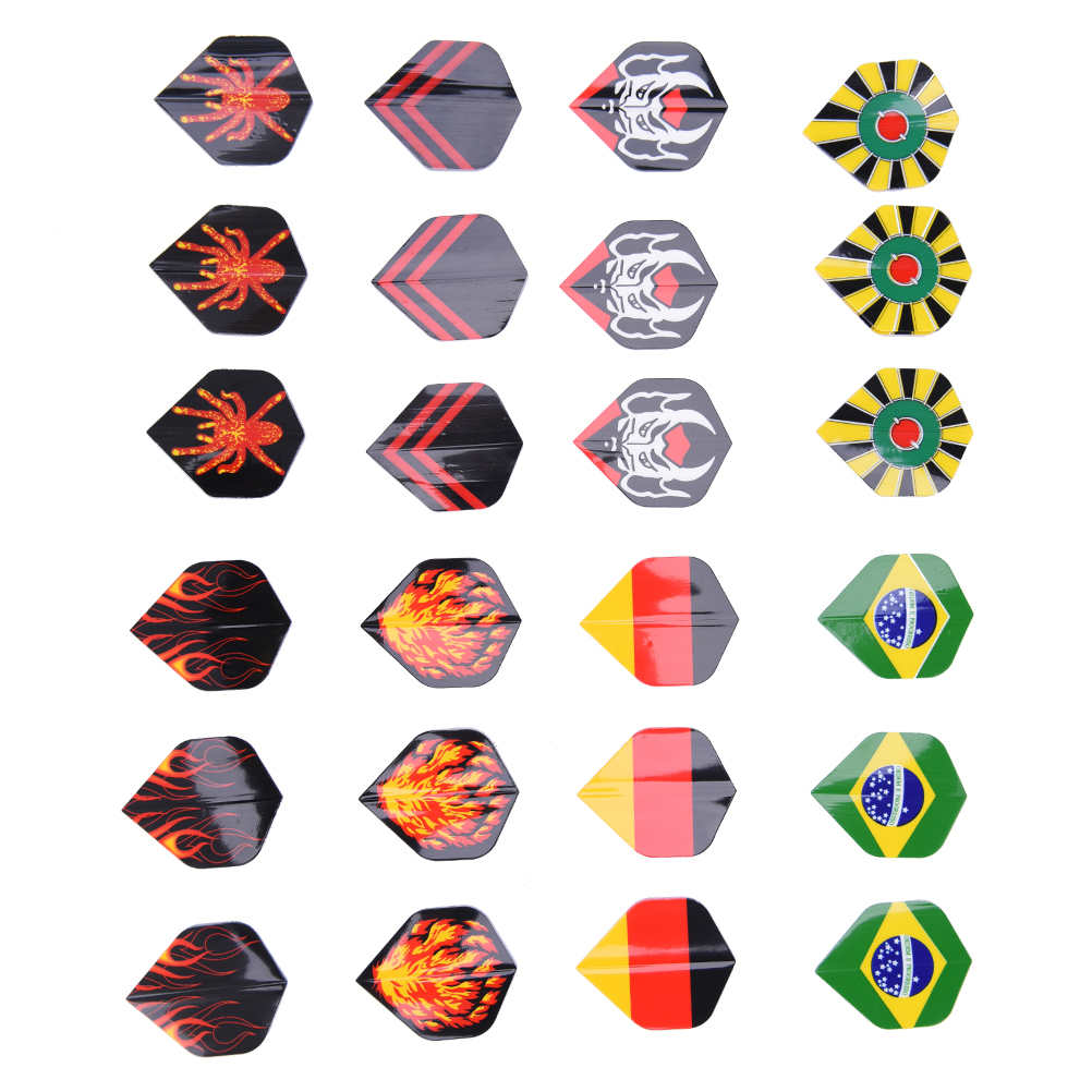 24PCS Popular Pattern Nice Darts Tail Flights Wing Mixed Style For Professional Darts Wing Tail Cool Outdoor Sports