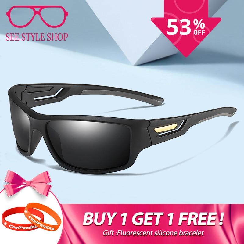 e0490cabdb9a2 Fashion Windproof Polarized Sunglasses Men Brand Designer Travel Male  Mirror Sun Glasses Driving Anti-UV