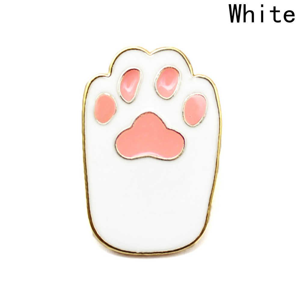 Broş ve pimleri Pet paw baskı emaye pin kedi köpek paw takı hayvan lover düğme simgesi dekorasyon rozeti sırt çantası