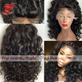 Cheap Curly Short Bob Wigs Syntetic Lace Front Wig Loose Curly Ponytail Wig with Baby Hair Heat Resistant Synthtic Wigs