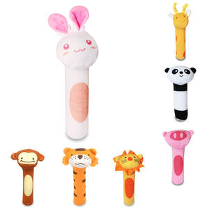 discountHEH 1 PC Baby Rattles Animal Toys Hand Plush Doll
