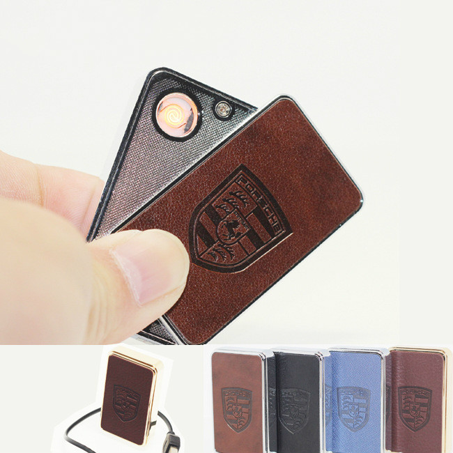2PCS/LOT Metal USB rechargeable lighter creative personality Creative Flameless Electronic Cigarettes light tag