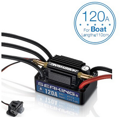 F18582/3 Hobbywing SeaKing V3 Waterproof 120A /180A 2-6S Lipo Speed Controller 6V/5A BEC Brushless ESC for RC Racing Boat mt3410l 2 3 6v 1 5a sot23 5