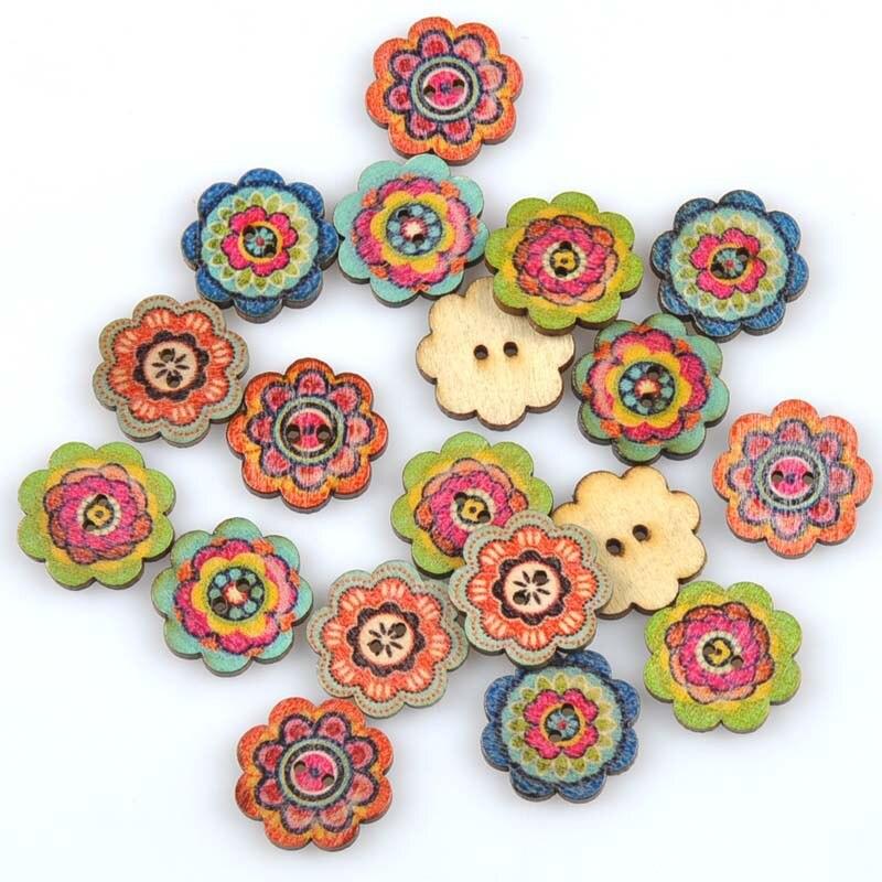 20 шт./лот ручная работа деревянные пуговицы окрашенные Швейные аксессуары популярные швейные изделия - Цвет: 5