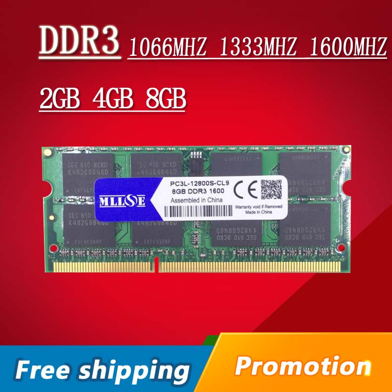 Sale 2gb 4gb 8gb 16GB DDR3 1066 1333 1600 PC3L-12800 PC3-10600 PC3-8500 SO-DIMM DDR3L Memory Ram Memoria For Laptop Notebook holographic belt purse