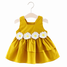 Flower Baby Dresses For Girls Sleeveless Newborn Baby Girl D