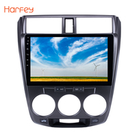Harfey for 2011 2012 2016 Honda CITY 2din 10.1 inch Touch Screen Car Multimedia Player Android 6.0 Bluetooth Car GPS Navigator
