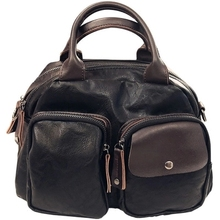 Зимняя новинка, Женская Повседневная сумка из мягкой искусственной кожи, женская сумка, черная, красная, коричневая, на одно плечо, многофункциональная сумка через плечо