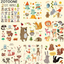 ZOTOONE Cute Cartoon Animal Patches for Clothing Iron on Transfers DIY Accessory Decoration Print on T-shirt Jeans for Children