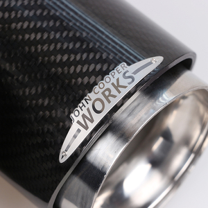 Image 3 - Hot koop Voor Mini Cooper auto styling koolstofvezel uitlaatpijpen Uitlaat geschikt voor R55 R56 R60 R61 F55 f56 F54 auto uitlaat