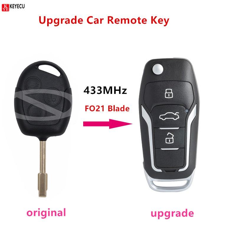 Upgrade Car Remote Key for Ford Focus C-Max D-Max Mondeo Fiesta 4D63 40bit