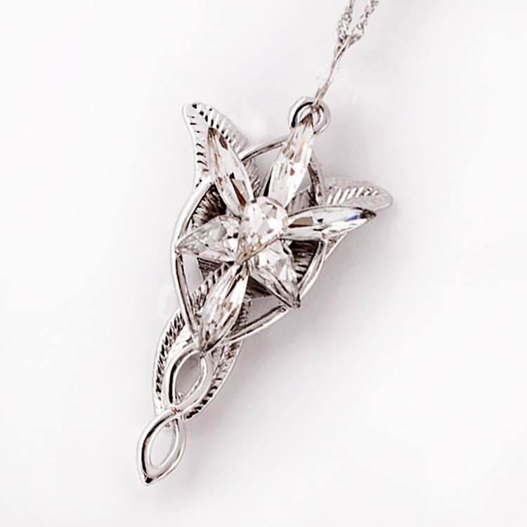 Lotr lord of the rings elf princess arwen evenstar pendants twilight lotr lord of the rings elf princess arwen evenstar pendants twilight elves princess silver plated pendant neck cosplay jewelry in pendant necklaces from aloadofball Gallery