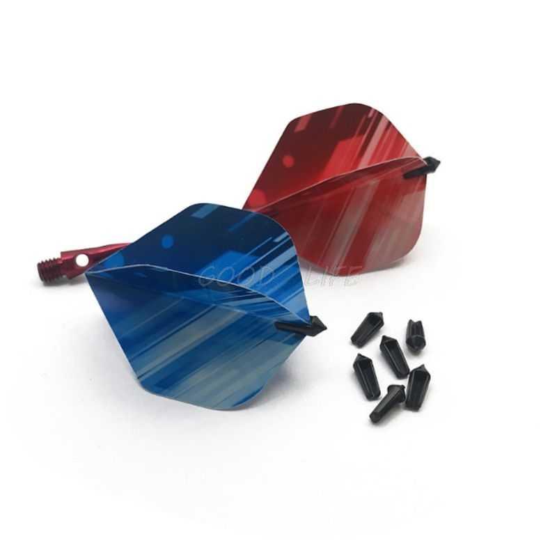 New  8Pcs/lot Plastic Mini Darts Flights Protector Black Savers 0.05g Ultra Lightweight Darts Accessories
