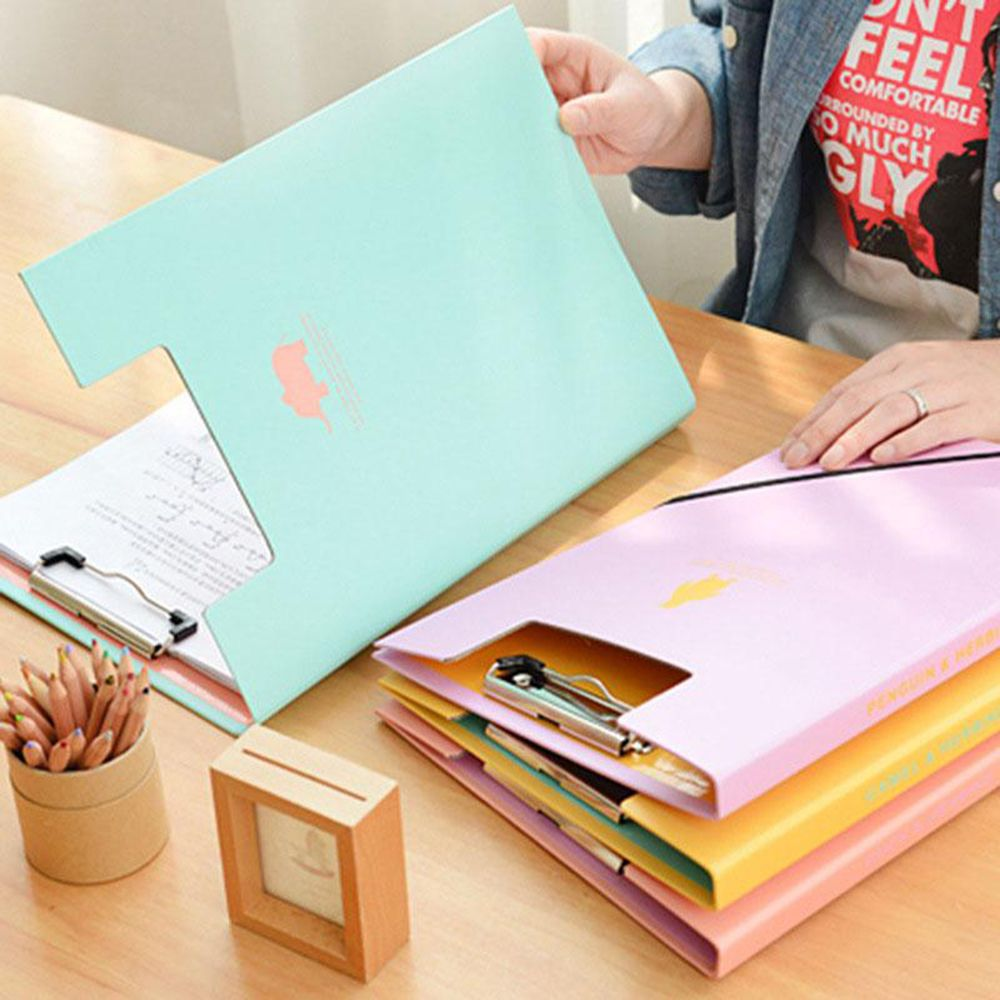 Muilti Function Animal Documents Clip File Folder Paper Storage A4 Office Accessories Office School Supplies
