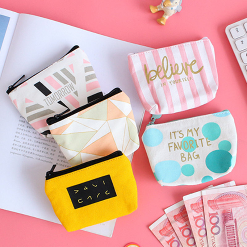Mini Sanitary Napkin Bag Canvas Coin Purse Credit Card Holder Sanitary Pad Pouch Cosmetics Organizer Storage Bags Women Wallets