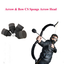 5pcs/lot Safety Live Arrow CS Game Sponge Arrow Head Hunting Arrowhead Game Practice Broadhead Tips For Archery CS Shooting