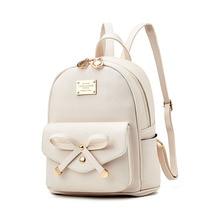 4dee96ab6c63 Модные женские туфли мини-рюкзаки LadiesPU кожаный рюкзак школьные сумки  для девочек-подростков Винтаж