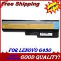 Batería del ordenador portátil para lenovo n500 g550 jigu para ideapad g430 v460 z360 b460 l08s6y02 5200 6cells 6 mah