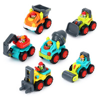 6 PCS Lot Pocket Car Toys Sliding Vehicles Trucks Construction Vehicles Toys Push And Go Toy