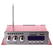 New HY-502S 2CH Bluetooth Amplifier Hi-Fi Super Bass Output Power Stereo Amplifier Audio Amplificador Support USB/SD Card