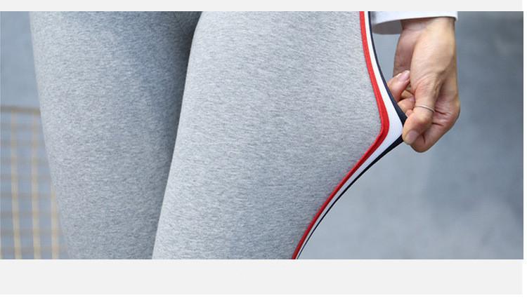 High Quality Cotton Leggings Side stripes Women Casual Legging Pant Plus Size 5XL High Waist Fitness Leggings Plump Female 30
