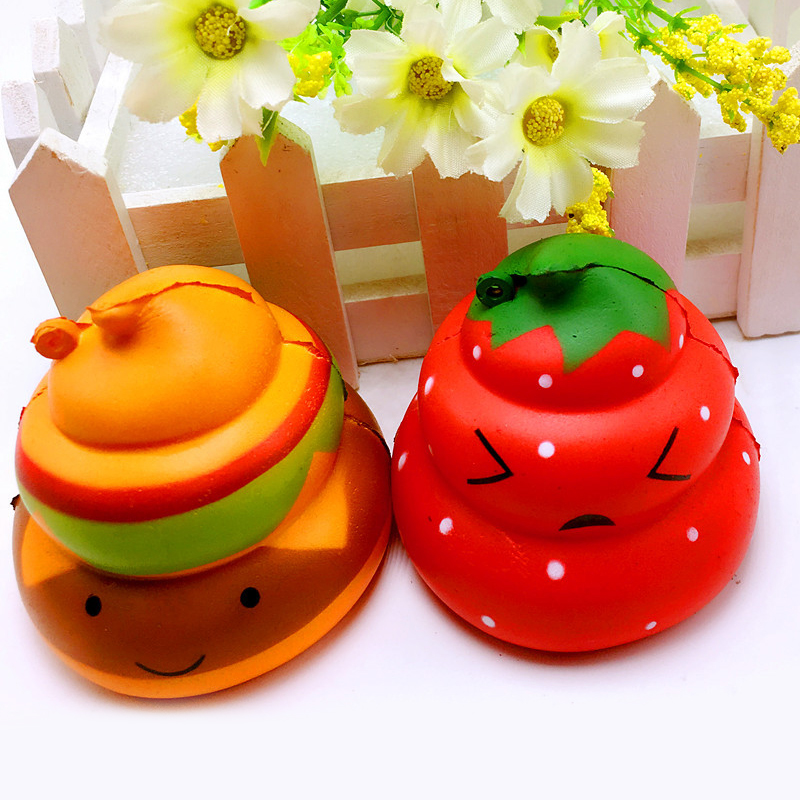 6.5CM Random Color Poo Squishy Toy Squeeze Anti-stress Gags Joke Fun Slow Rising Practical Kids Fun Gift Squishies