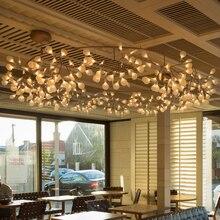 Современные круг Dia.210cm привело подвесной светильник творческая личность ветви firefly акриловые лампы для гостиной ресторан лобби