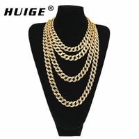 Hip Hop Gold Silver 15mm Choker Cuban Chain Mens 18inch 20inch 24inch 30inch Miami Cuban Link