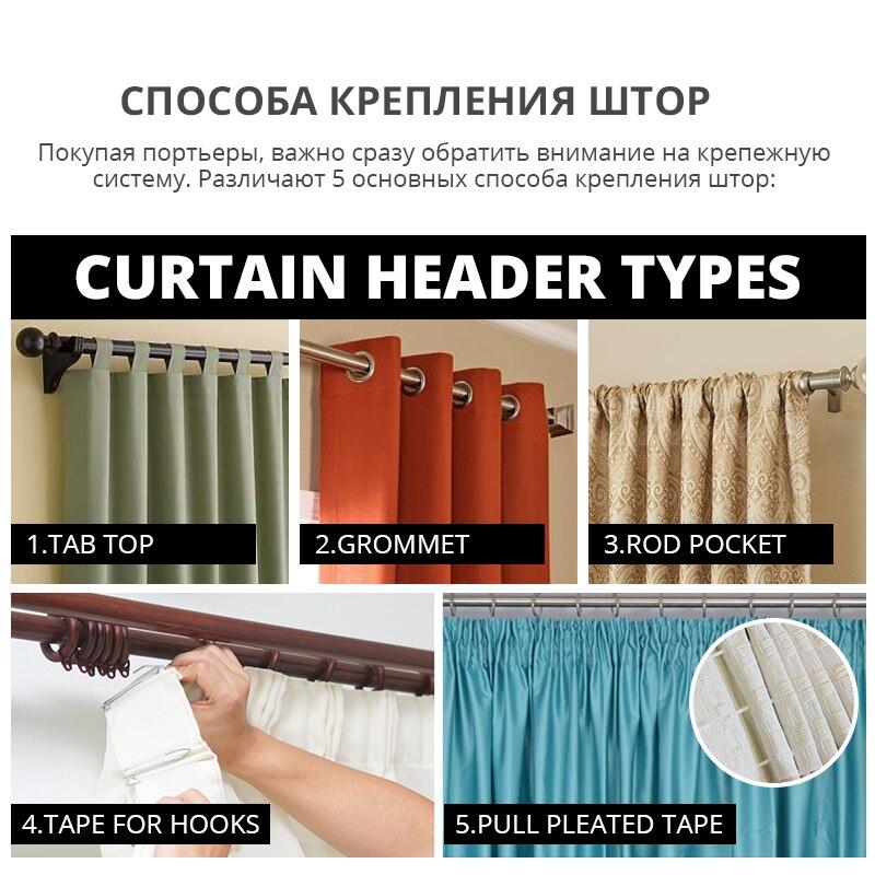 Yataq otağının pərdələri oturma otağı üçün lüks - Ev tekstil - Fotoqrafiya 6