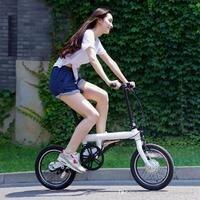 Spor ve Eğlence'ten Elektrikli Bisiklet'de Orijinal xiaomi akıllı elektrikli bisikletler bisiklet taşınabilir Qicycle e bisiklet katlanabilir pedelec ebike Elektrikli destekli bisiklet