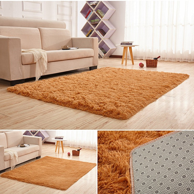 wholesale 140*200cm Water does not rub off silk carpet nap bedroom - Home Textile - Photo 5
