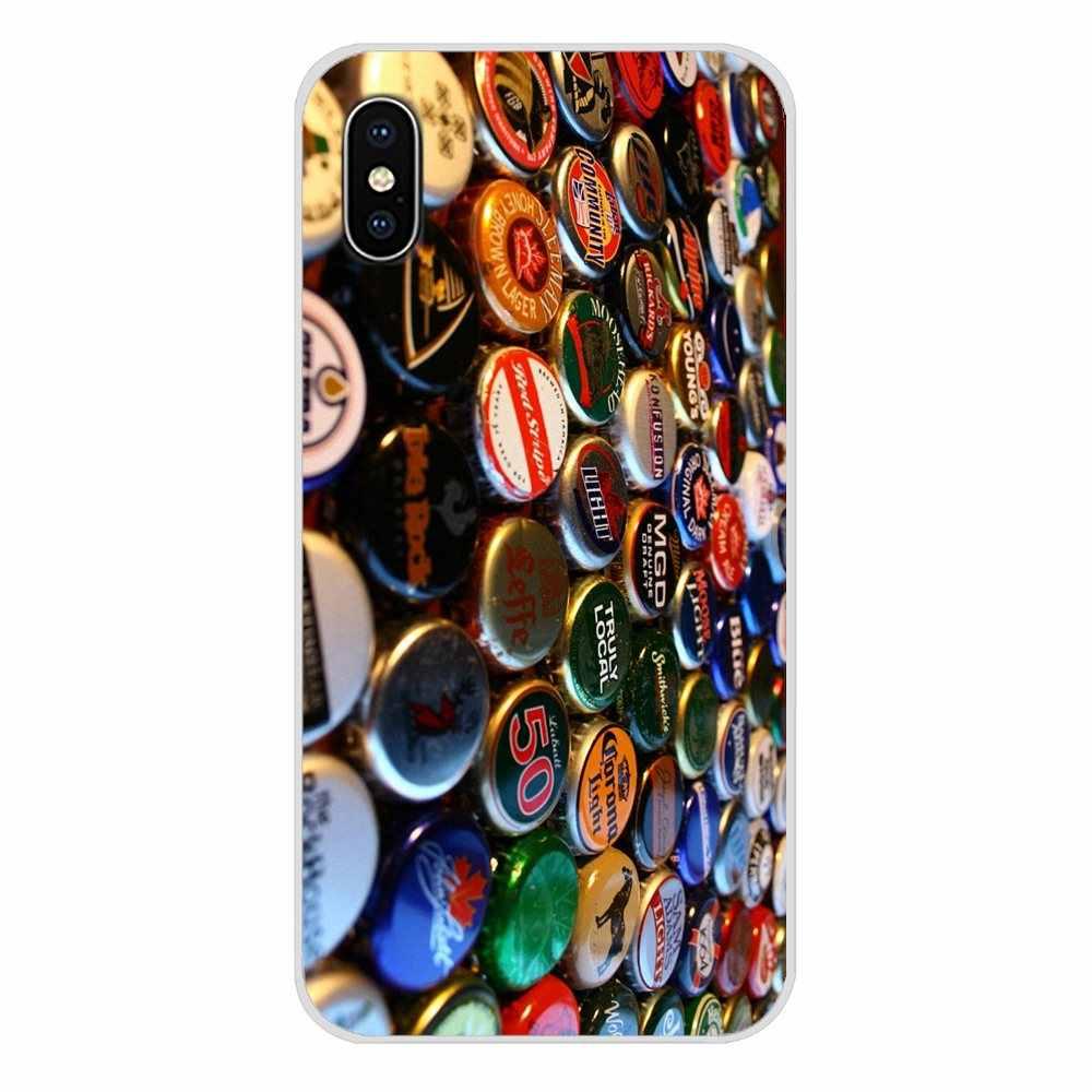 Wielu piwa kapsle do butelek wzór kolaż dla Xiaomi Mi6 A1 5X 6X Redmi Note 5 5A 4X 4A 4 3 Plus pro pocophone F1 futerał na telefon