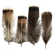 Wholesale 100Pcs/Lot Turkey Pheasant Plumage Eagle Feathers 10-15cm/4-6inch for Crafts Carnival Plumas Plumes