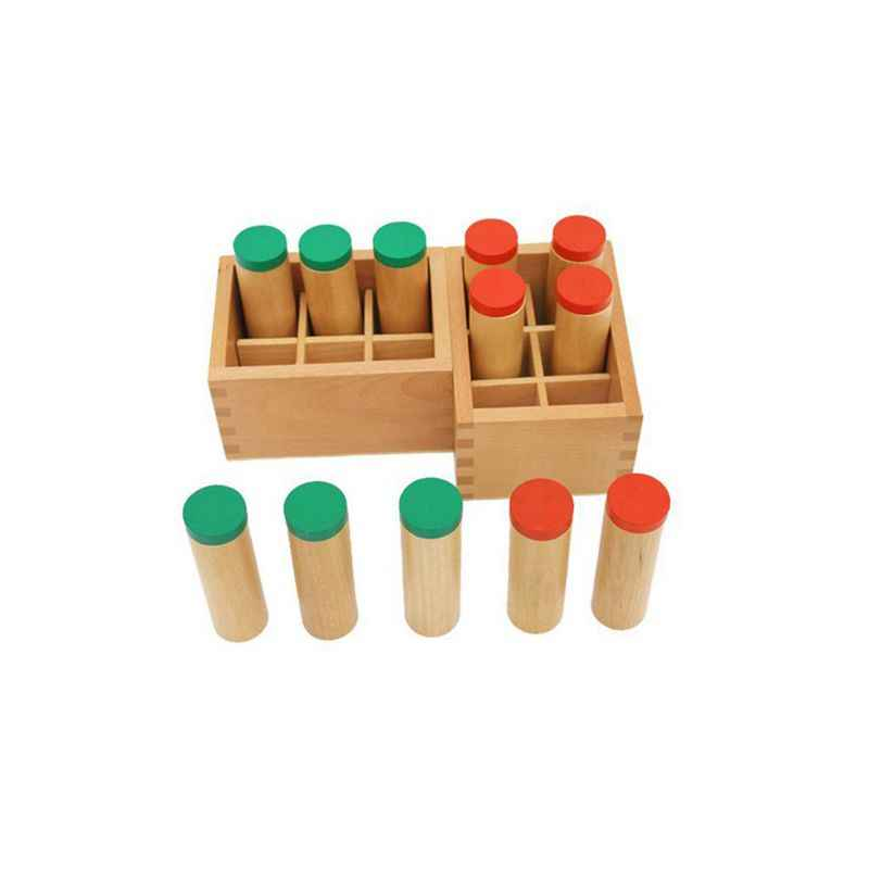 Wooden Montessori Sensorial Auditory Material Container Holder Sound Cylinder