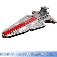 DHL Lepin 05077 6125Pcs Star War UCS ST04 Republic Cruiser Legoing Figures Model Building Blocks Bricks Set Toys For Children