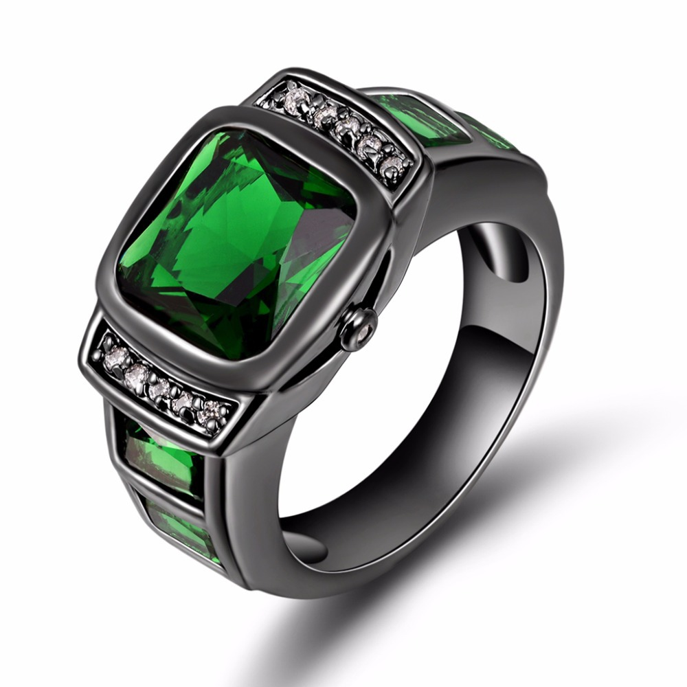 The Gallery For Gt Green Emerald Diamond Engagement Rings