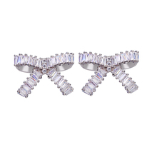 Bettyue Brand 2018 New Fashion AAA Cubic Zircon Three Colors Originality Bowknot Jewelry Earrings For Woman Wedding Party Gift