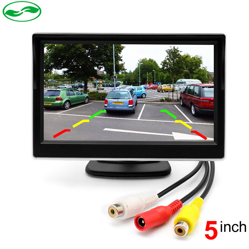 2 Ways Video Input 5 Inch TFT Auto Video Player 5 Car Parking Monitor For Rearview Camera Parking Assistance System