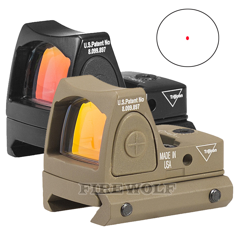 Trijicon Mini RMR Red Dot Sight Collimator Glock / Shot gun Reflex Sight Scope fit 20mm Weaver Rail For Airsoft / Hunting Rifle hunting tactical mini red dot laser sight scope weaver with picatinny rail mount for pistol rifle shot gun airsoft riflescope