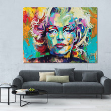 Knife Oil Painting Marilyn Monroe Canvas Print On Large Size Portrait Poster For Living Room Wall Cuadros