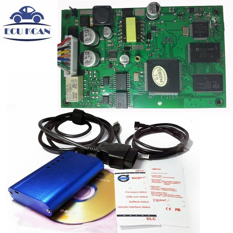 Цена за Супер Vo-лво Dice Pro + 2014D Для Во-лво Vida Dice Диагностический Инструмент Оборудование Связи Pro Plus сканер Обновление Бесплатно