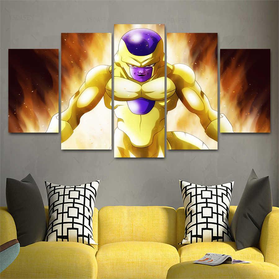 Drop Pengiriman HD 5 panel Kanvas Art DB 2103185 VH-500 DRAGONBALL Lukisan dekorasi Rumah Poster Gambar Untuk Ruang Tamu