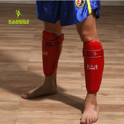 8ba91eb79ff70 حار 1 زوج ساندا واقي البشرة MMA الساق الحرس الملاكمة التايلاندية ركلة  الملاكمة طماق واقي البشرة حراس الكاحل الساق يدعم واقية الحرس