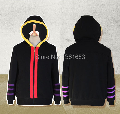 Ansatsu Kyoushitsu Japenese anime costume man and women cosplay coat Korosensei Kill the teacher hoodies shirt and tie