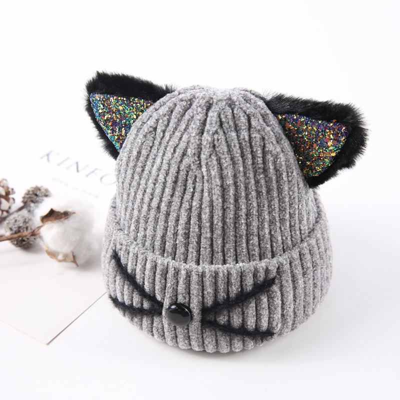 Aliexpress.com   Buy Cute Cat Ear Beanie For Baby 2018 Fashion Brand  Flannel Hat High Quality Warm Cap Winter Skullies Beanies Bonnet from  Reliable Skullies ... c803f45a8d68