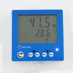 USR-HTW Free Shipping Wall-Mounted Temperature & Humidity Sensor with LCD Display WIFI Wireless Remote Monitoring lorawan wireless temperature and humidity sensor intelligent agriculture