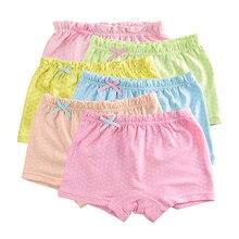 5Pcs Lot Candy Dot Colors font b Girls b font Boxer Breathable Cotton Material font b