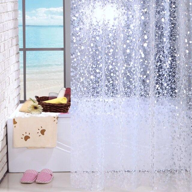 Stone Pattern Shower Curtains Bath Curtain Bathroom Waterproof Screen